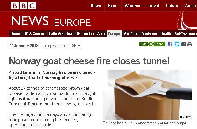 Norway Goat Cheese Fire