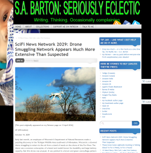 SciFi News Network 2029  Drone Smuggling Network Appears Much More Extensive Than Suspected   S.A. Barton  Seriously Eclectic