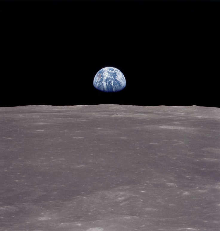 Earth from moon Apollo 11 photo AS11-44-6551