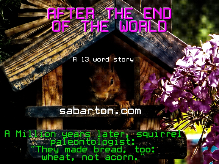 13 word story After The End squirrel-826709-house-pixabay-cc0-pubdom-smaller