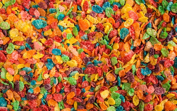 Fruity Pebbles - eat sugar and dye