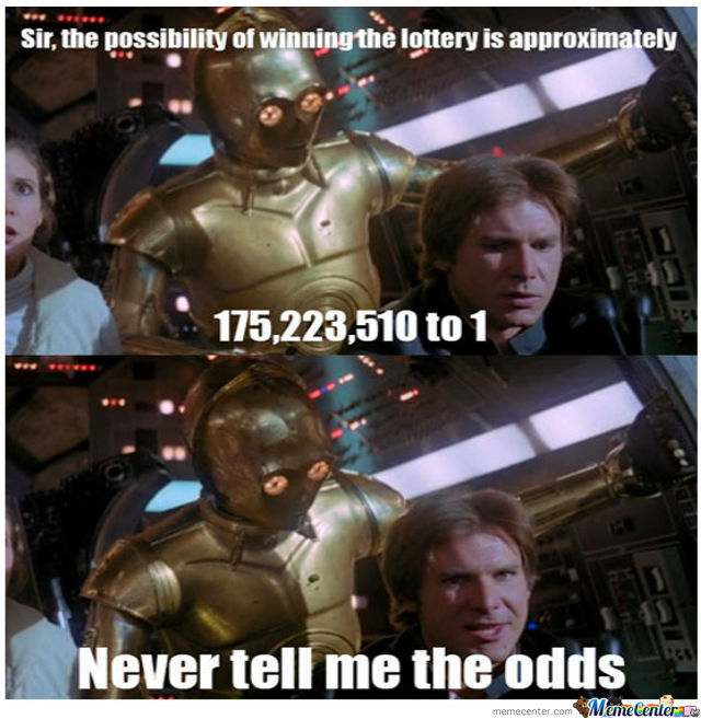 C3P0 and Han Solo odds meme thingiee