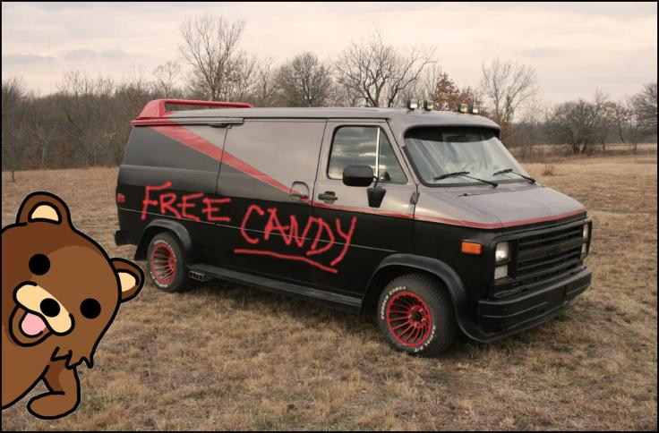 Free candy pedobear van